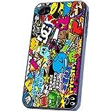 Sticker Bomb COLOURFULL Stil Designer iphone 4 4S Hülle Case Back Cover Metall und Kunststoff-Löschen Frame