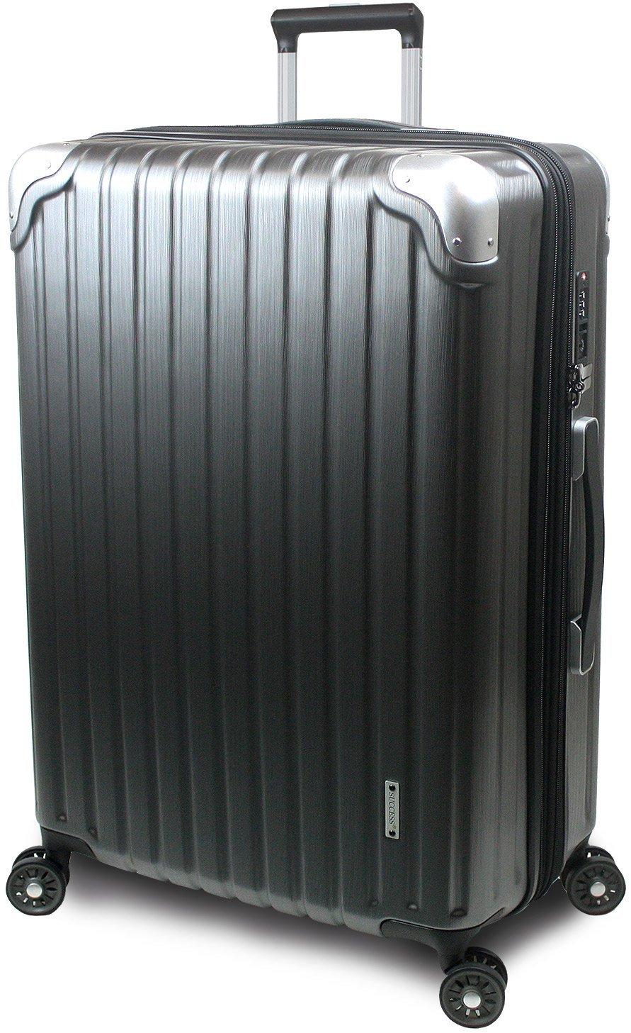 【SUCCESS サクセス】 スーツケース 3サイズ 【 大型 76cm/ジャスト型 70cm/中型 65cm 】 超軽量 TSAロック搭載 【 プロデンス コーナーパットモデル】 B01ELOM27E 中型 Mサイズ 65cm|ガンメタリックヘアライン ガンメタリックヘアライン 中型 Mサイズ 65cm