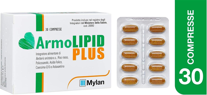 Mylan ArmoLipid Plus Integratore Alimentare con Riso Rosso, 30 Compresse