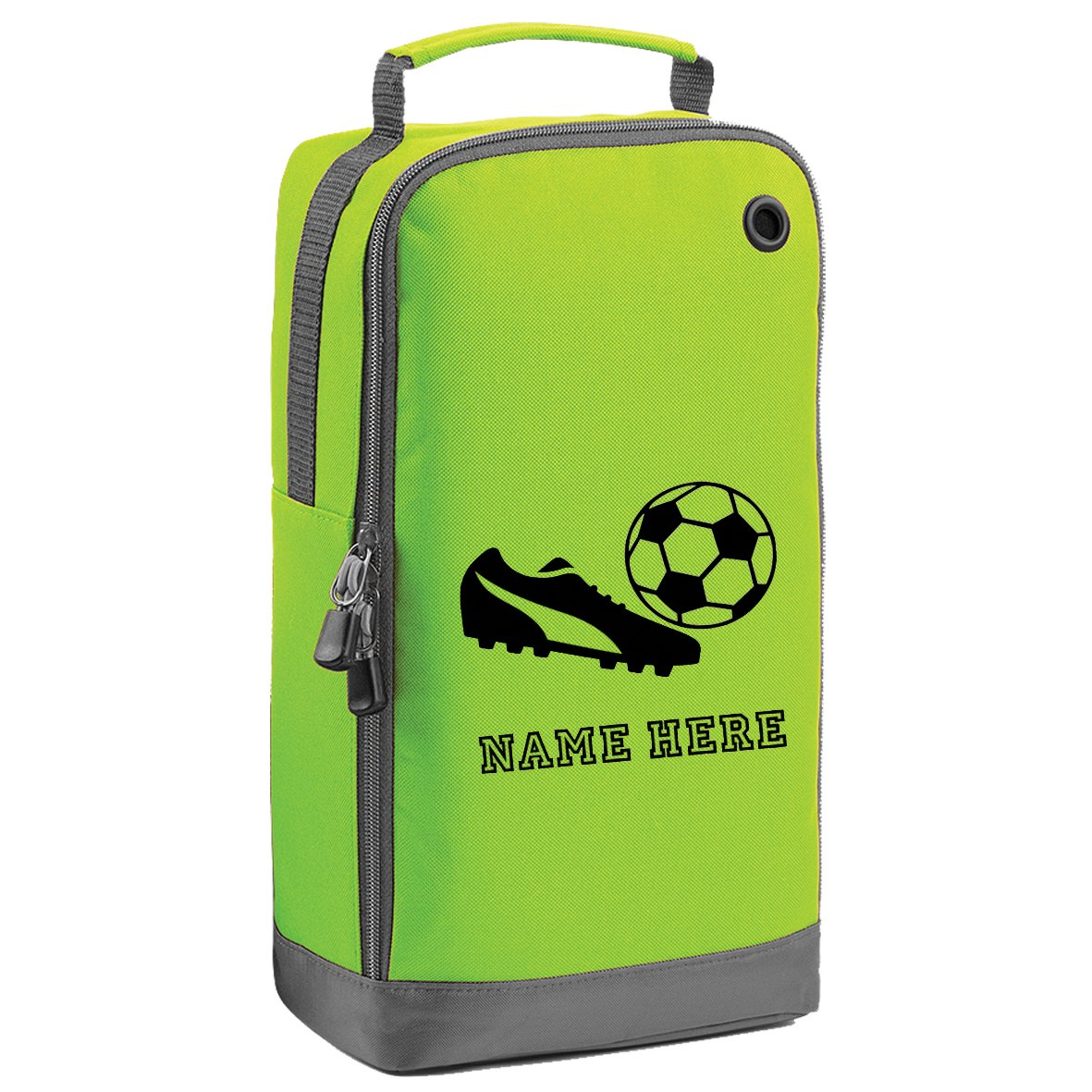 Bolsa personalizada con asa para botas de fútbol, lime green ...