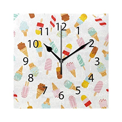 Amazon.com: DYSLY Wall Clock,Square 8x8 Inches Silent ...