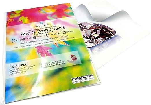 Vinilos adhesivos imprimibles en formato A4, resistentes al agua y ...