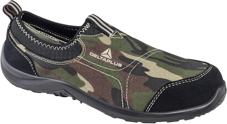 Delta PLus Deltaplus Panoply Miami S1P S/écurit/é sur Toile Slip on Coque en Acier Noir Baskets Sneakers