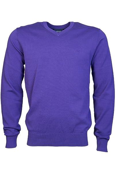 hyvämaineinen sivusto ensiluokkainen AliExpress ARMANI JEANS Mens V Neck Knitwear 8N6MC7 6M11Z Size M Purple ...