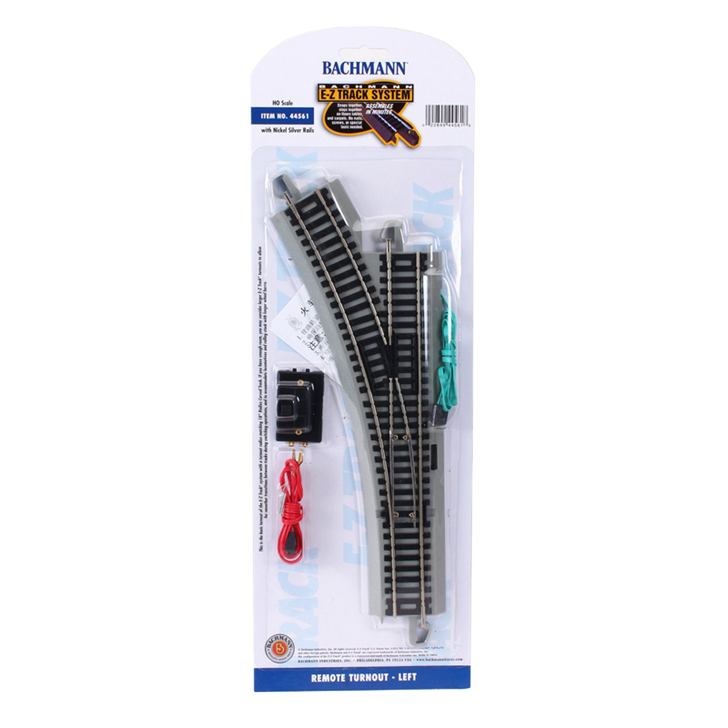 HO Scale Bachmann Trains Snap Fit E Z Track Remote Turnout Left