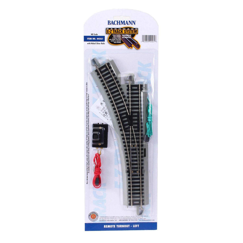 Amazon.com: HO Scale Bachmann Trains Snap-Fit E-Z Track Remote Turnout -  Left: Toys & Games