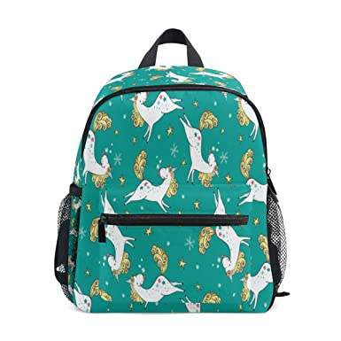 91cabd1961b Image Unavailable. Image not available for. Color  ZZKKO Cute Magic Unicorn  Kids Backpack School Book Bag ...