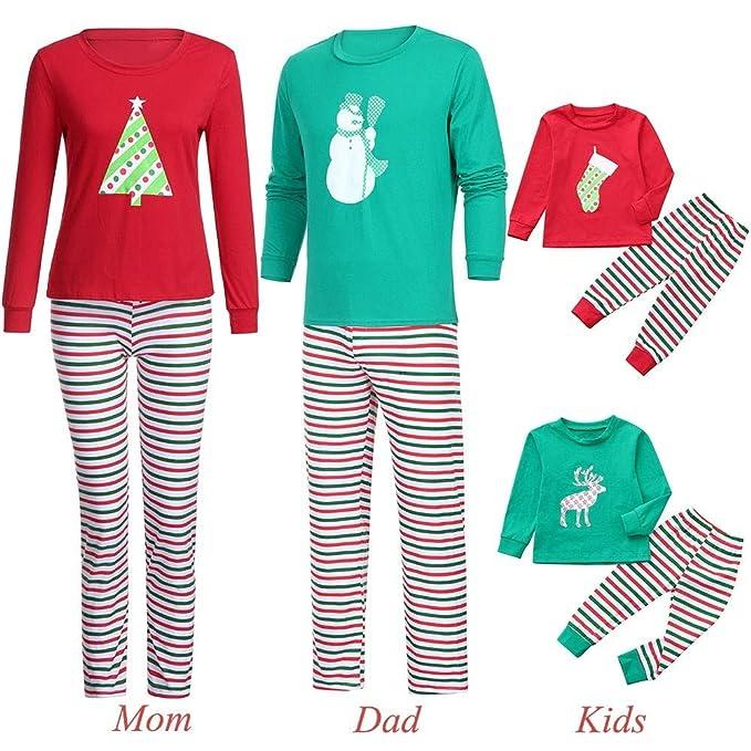 POLP Niño Familia de Coincidencia de Patrones de Navidad Pijamas Set Hombres Mujer Chico Niña Niños