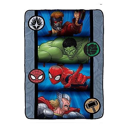 Amazon Com Marvel Avengers Blanket Full Size Kids Plush Bedding