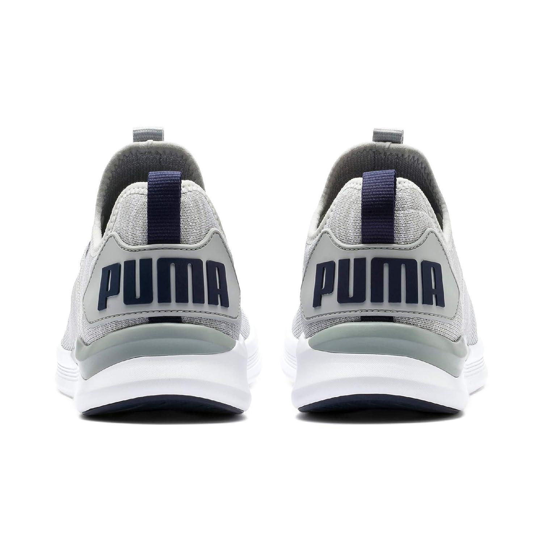 Puma ignite flash evoknit', scarpe da corsa uomo, grigio white high rise yellow alert, 41 eu