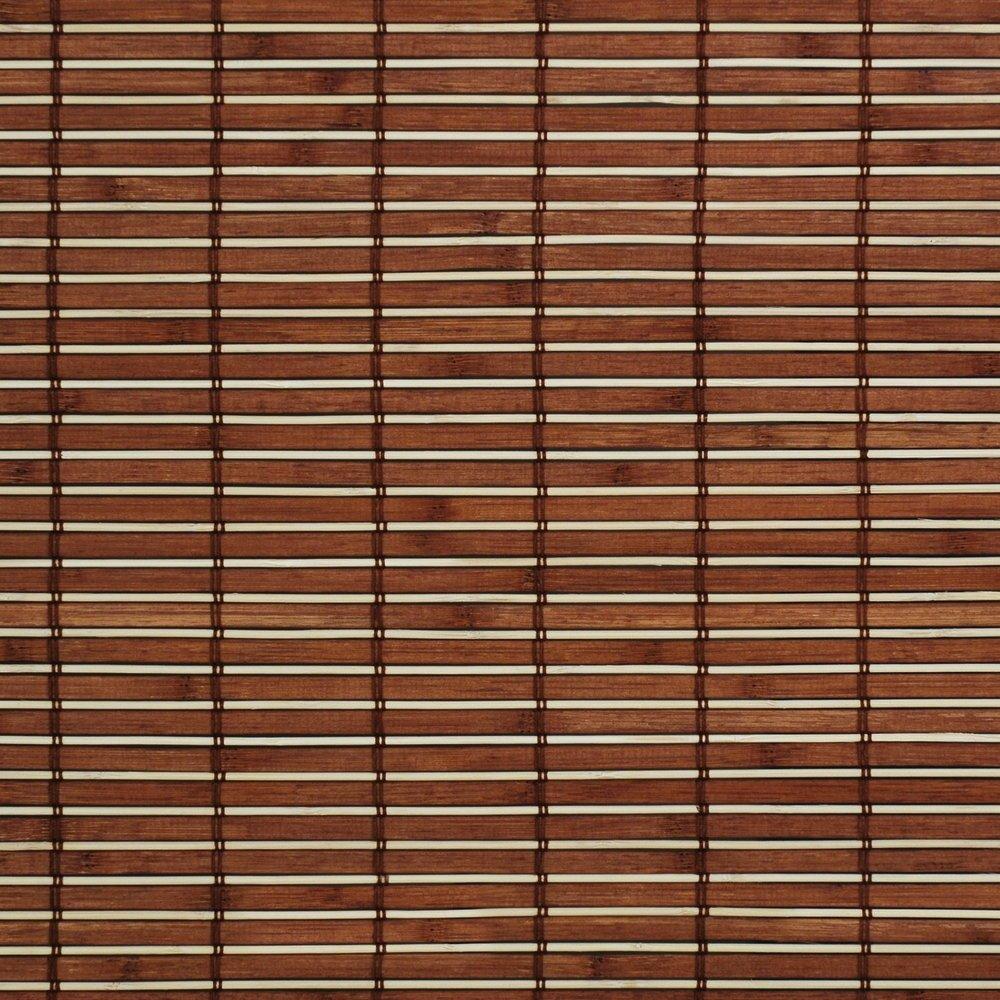 Easy-Shadow Holzrollo Holz-Rollo mit Seitenzug 160 x 170 cm   160x170 cm in der Farbe braun - Bambus Holz Rollo für Fenster und Tür - Bedienseite rechts