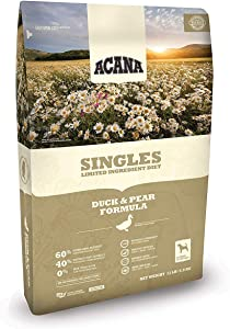 ACANA 13 LBS Dry Dog Food, Duck and Pear Formula, Biologically Appropriate Dog Food