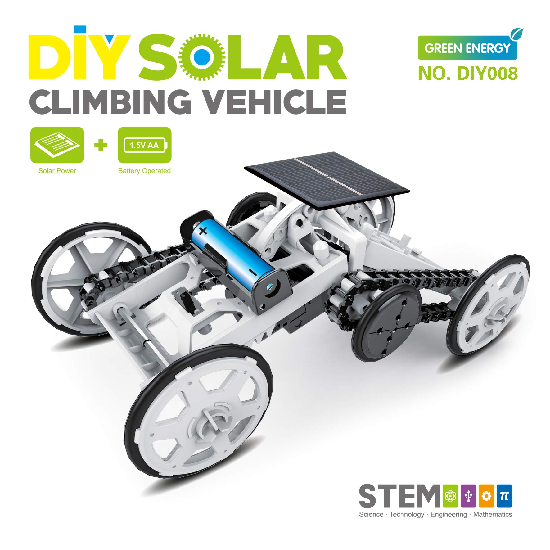 STEM 4WD car DIY Climbing Vehicle Motor car Educational Solar Powered car Engineering car for Kids,Assembly Gift Toy Circuit Building Projects Science Experiment,Building Toys by MDGZY