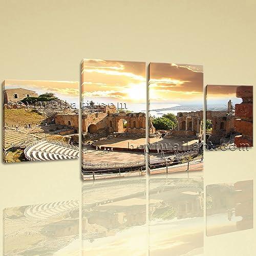 Amazon.com: Large Roman Theatre Landmarks Wall Decor Art Dining Room ...