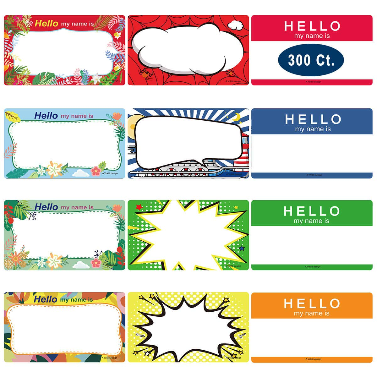 photograph about Printable Name Tags identify Popularity Tag Labels Stickers, Yoklili Printable Hi there My Reputation is Colourful Simple Reputation Badge Tags, Print or Compose, 3 1/2\