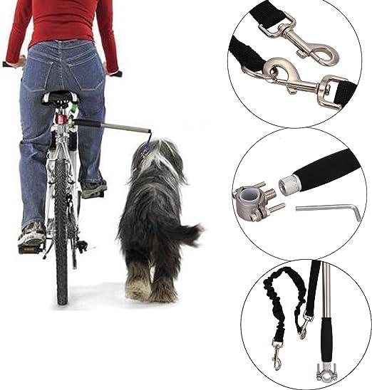 annaeye perro bicicleta ajustable correa manos libres para ...