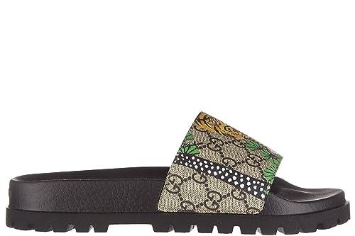 Gucci Hombres Zapatillas Sandalias Bengal Tiger Beige EU 43 450895 K6D00 8650: Amazon.es: Zapatos y complementos