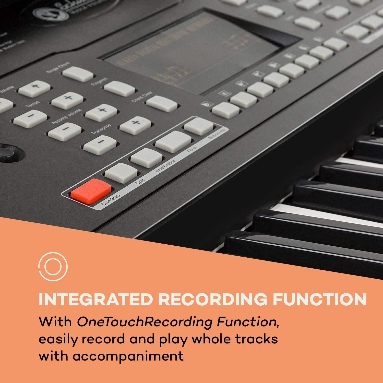 Schubert Etude 61 MK II Teclado digital • Teclado para ensayos • 61 Teclas • Función de grabación y aprendizaje • 50 canciones • 300 tonos/ritmos • Funciona ...