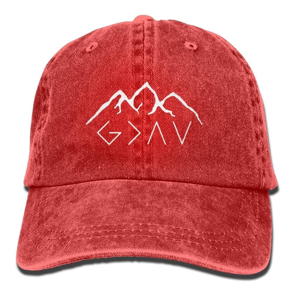 MDFY OEWGRF God is Greater Than The Highs and Lows Denim Hat Men's Classic Baseball Caps