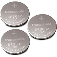 3-Pieces Panasonic Br3032 Lithium Button Cell Battery