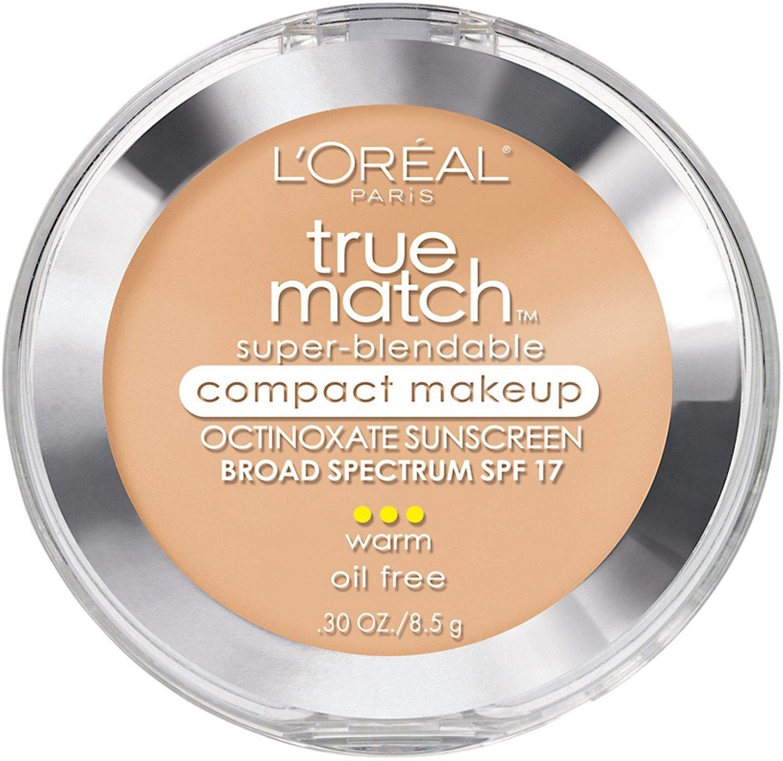 L'Oreal True Match Super-Blendable Compact Makeup, Sand Beige [W5], 0.30 oz