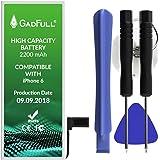 GadFull® batería de Alta Capacidad para iPhone 6 Profesional Set   Fecha de producción 2018   Incluye Manual de reparación y Kit Profesional de Juego de Herramientas