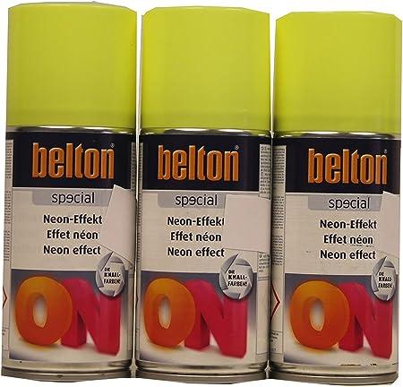 3 X 150 Belton Special Peinture Jaune Fluo Nitrokom