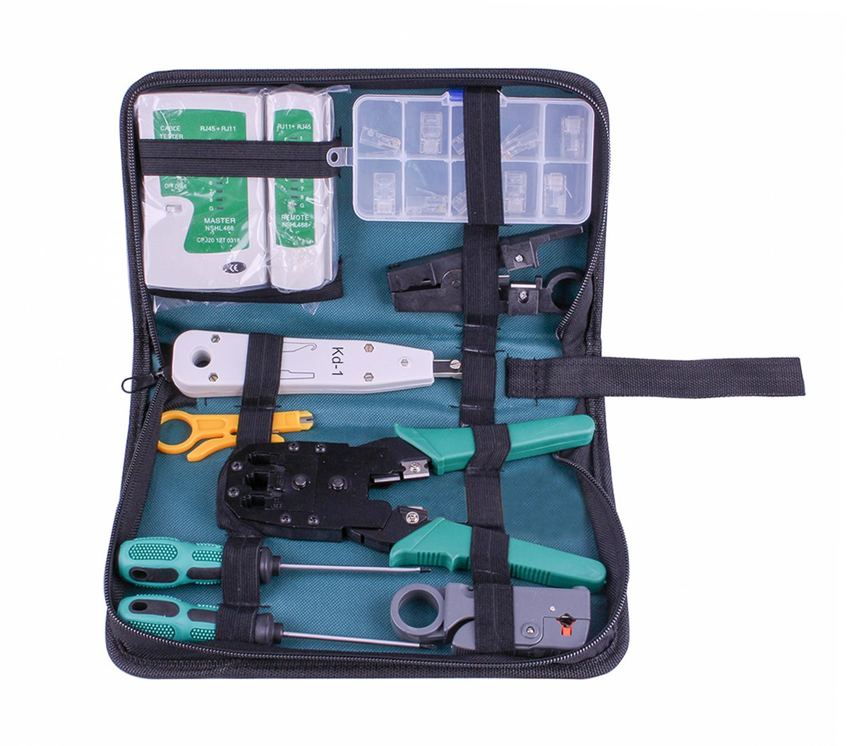 SIBO® NS-468 RJ45 RJ11 Multi-function Master And Remote Network Cable Tester Telephone Cable Tester Tool Kit SB-NS468