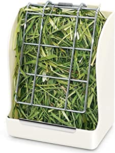 Rabbit Hay Feeder/Rack Keep Grass Clean & Fresh, Less Waste, Fit for Rabbits/Guinea Pig/Chinchilla and Other Small Animals by TOMOON