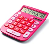 Amazon Price History for:Office+Style 8 Digit Dual Powered Desktop Calculator, LCD Display, Pink