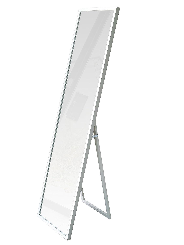 壁掛けミラー スタンドミラー ワイドミラー 全身鏡 姿見 UNI(ユニ) 姿見 ドレッサー ウォールミラー (幅38.6x高さ153.6cm) 鏡 木製 大型ミラー ホワイト アンティーク 桐材 おしゃれ インテリア 大型 大きい B074W2G169 ホワイト ホワイト