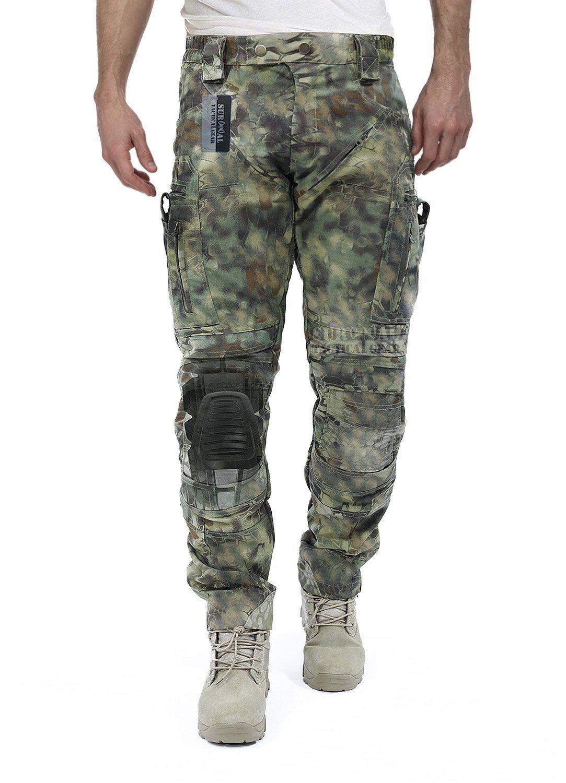 サバイバルタクティカルギアメンズAirsoftウォーゲームタクティカルパンツwith膝保護システム&空気循環システム B07488WP13 Medium|Mandrake Camo Mandrake Camo Medium