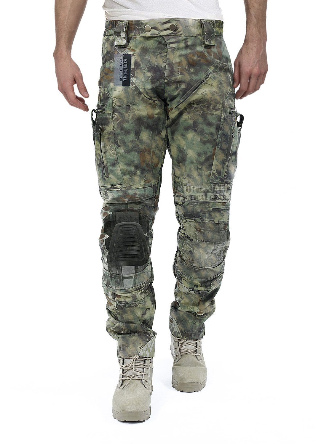 Survival Tactical Gear Men's Airsoft Wargame Tactical Pants with Knee Protection System & Air Circulation System (Mandrake Camo, S) by Survival Tactical Gear