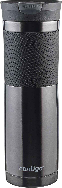 Contigo Byron - Taza térmica de Viaje de Acero Inoxidable, Botella de vacío, Vaso a Prueba de Fugas, Taza de café con Tapa Libre de BPA