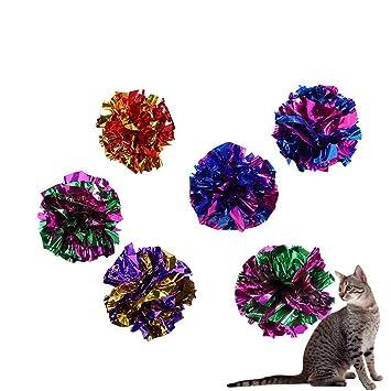 Atommy Bola de papel Gato mascota Gato divertido Juguete Suministros para mascotas Juguetes vocales (Color aleatorio, 10 pcs): Amazon.es: Juguetes y juegos