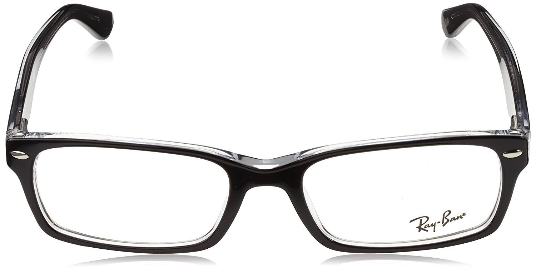 226288e721575 Amazon.com  Ray-Ban Men s 0rx5206 No Polarization Rectangular Prescription  Eyewear Frame Dark Havana 52 mm  Clothing