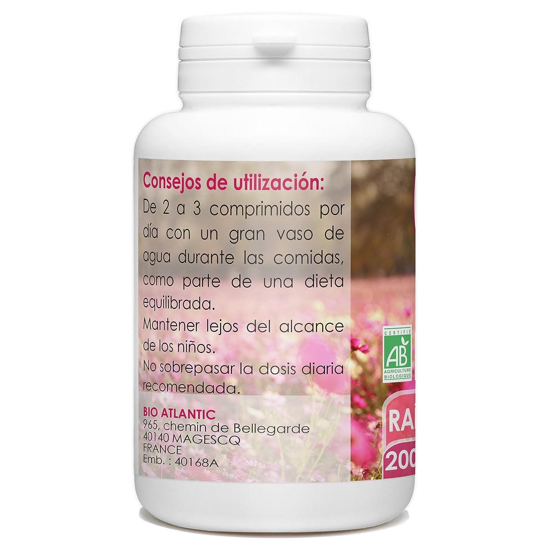 Raiz de Bardana Organica - 200 tabletas 400 mg: Amazon.es: Salud y cuidado personal