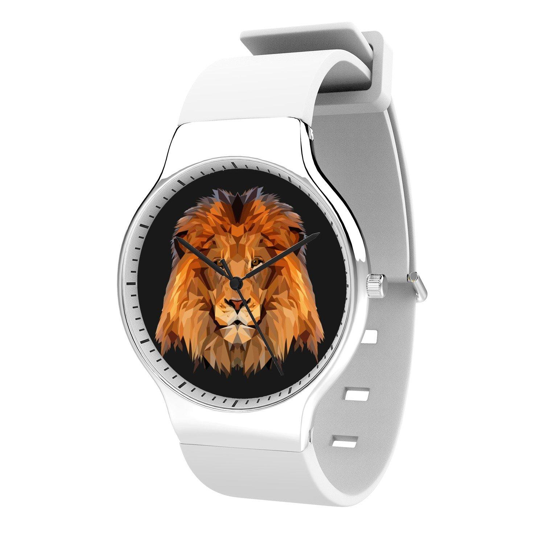 FELOOWSE Animal Watches Lion Watch Men's Quartz Watches, Minimalist Slim Japanese Quartz Youth Silicone Watches, Fashion PracticalWaterproof Boys Watch Customized Watches