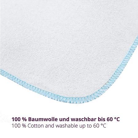 Mias paño de franela bebé - 10 toallas para bebé de franela de molton, blanca, de algodón, libre de sustancias nocivas/muselina para bebé/toallitas ...