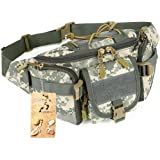 Tactical Waist Pack CREATOR Portable Fanny Pack Outdoor Hiking Travel Large Army Waist Bag Military Waist Pack for Daily Life Cycling Camping Hiking Hunting Fishing Shopping - Black