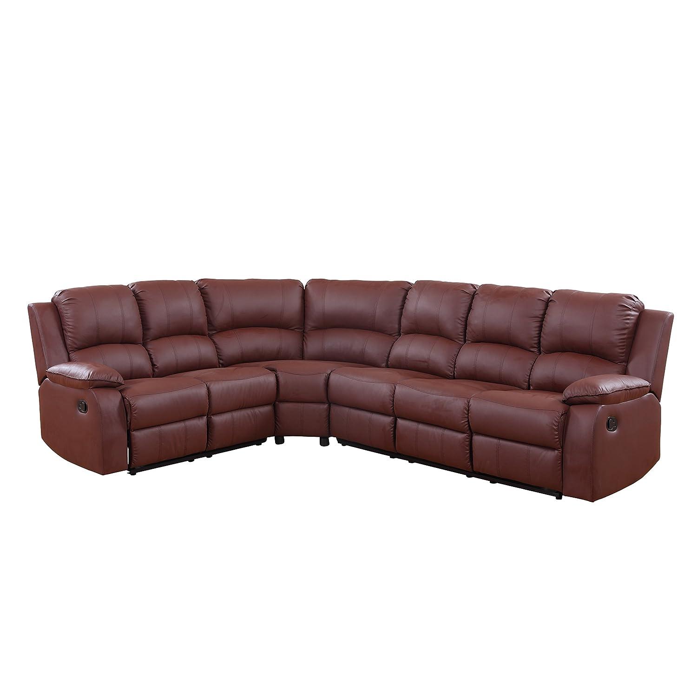 amazoncom large classic sofa sectional traditional bonded leather kitchen u0026 dining