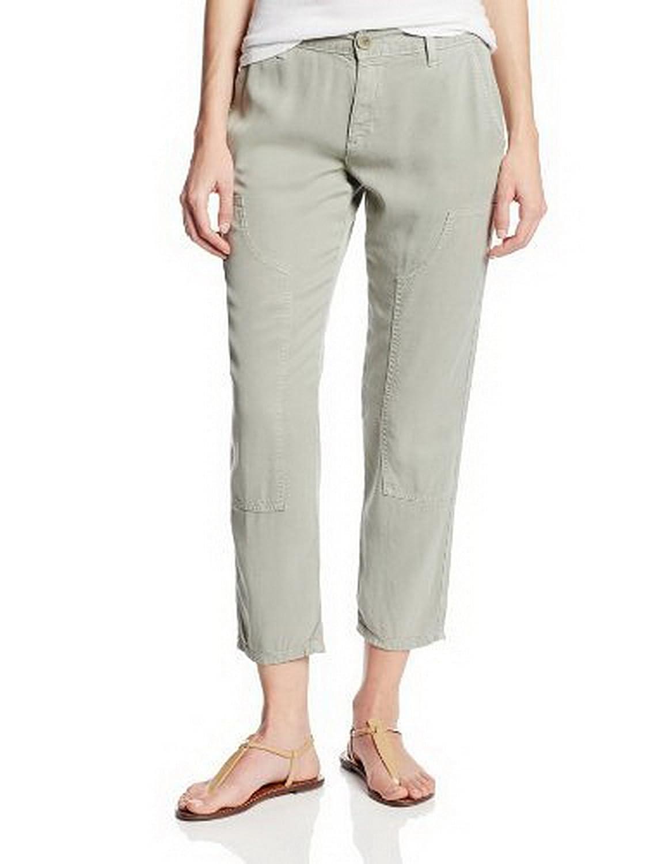 RICH & SKINNY Dillon Womens Lightweight Utility Jean Pants Sz 30 Light Grey 170461E