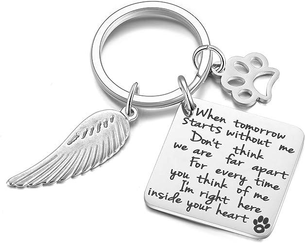 Keychain Pet Paw Print Love Heart Charm Key Chain Dog Cat Lover Jewelry Animal M