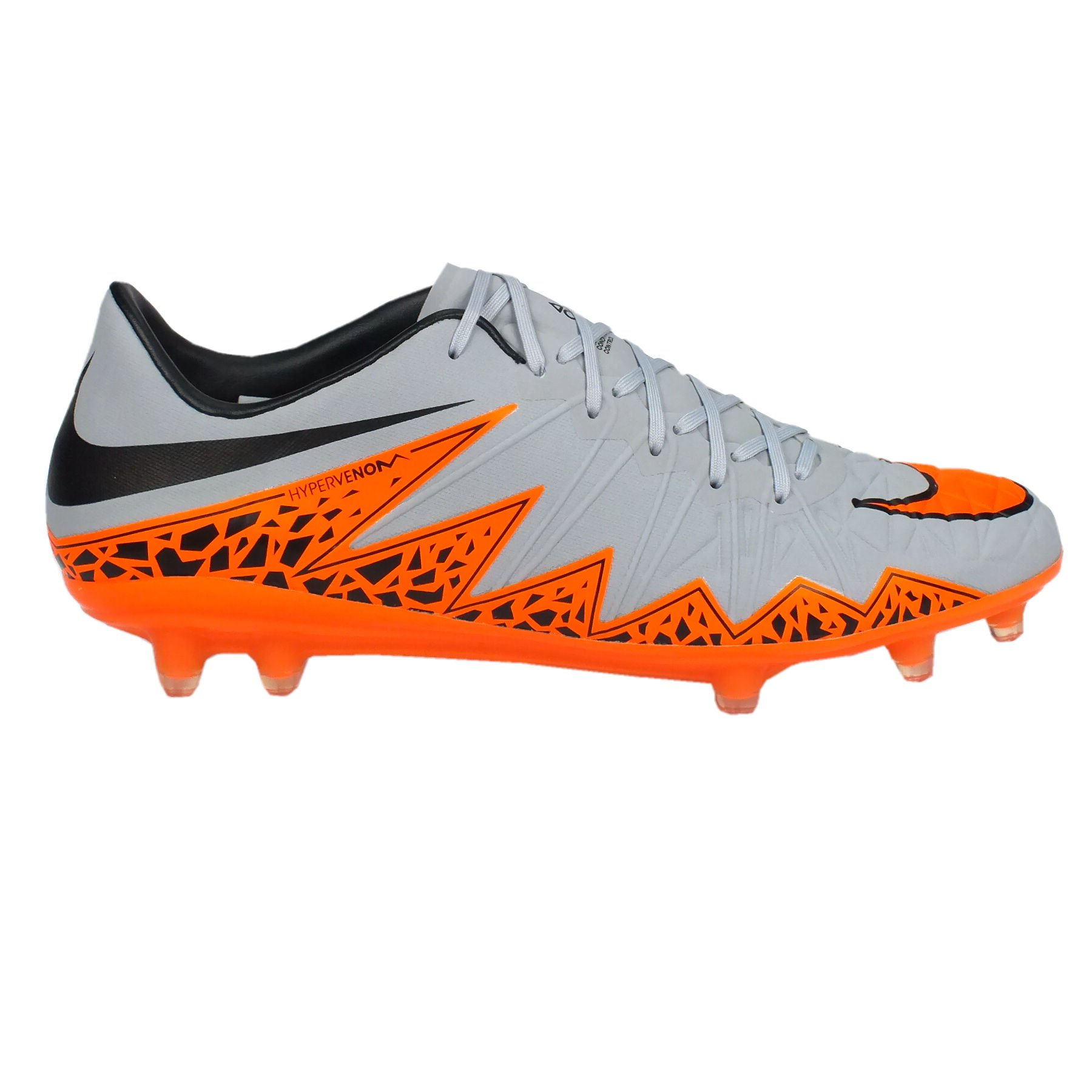 timeless design bc295 f4f2d Nike Mens Hypervenom Phinish FG Soccer Cleats (Wolf Grey Black Total  Orange) (11)