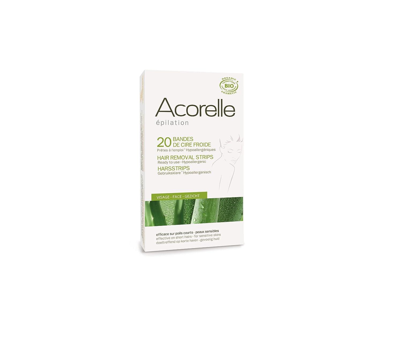 Acorelle Facial Hair Ready To Use Strips Aloe Vera & Beeswax 20 Strips 9151