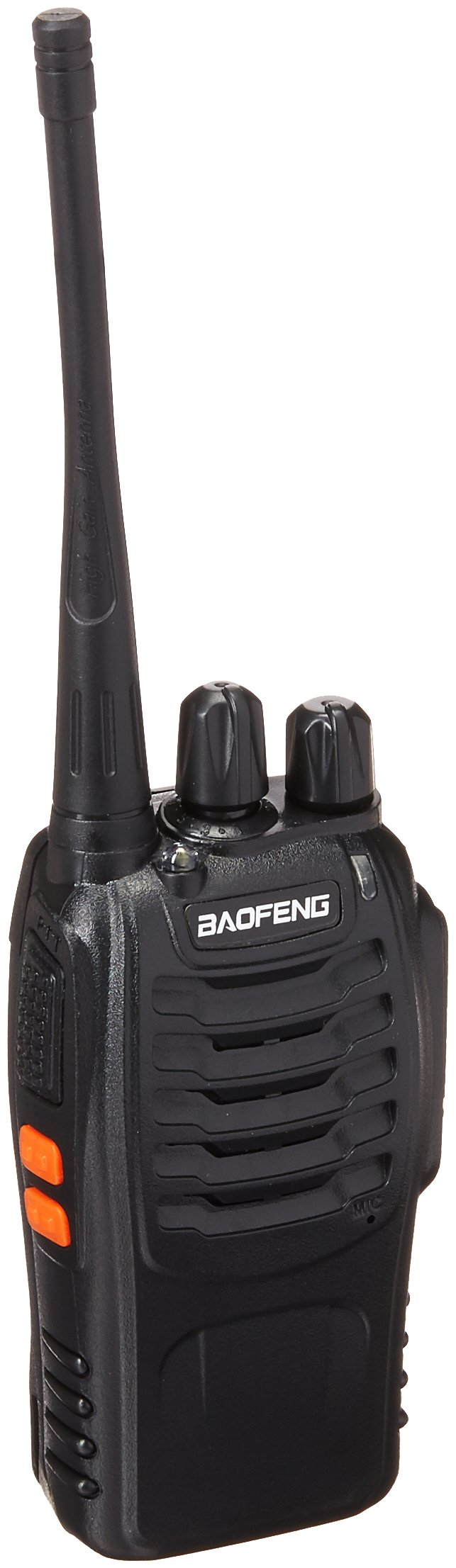 BaoFeng BF-888S Two Way Radio with Built in LED Flashlight (Pack of 4) + USB Programming Cable (1PC)