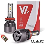 LED Headlight Bulbs H11 H8 H9, LED Automobile Headlight Bulbs All-in-One Conversion Kits with Advanced Super Bright LED Chip High Power Lamps 6000K 9000Lm (Set of 2 Bulbs) -2 Year Warranty