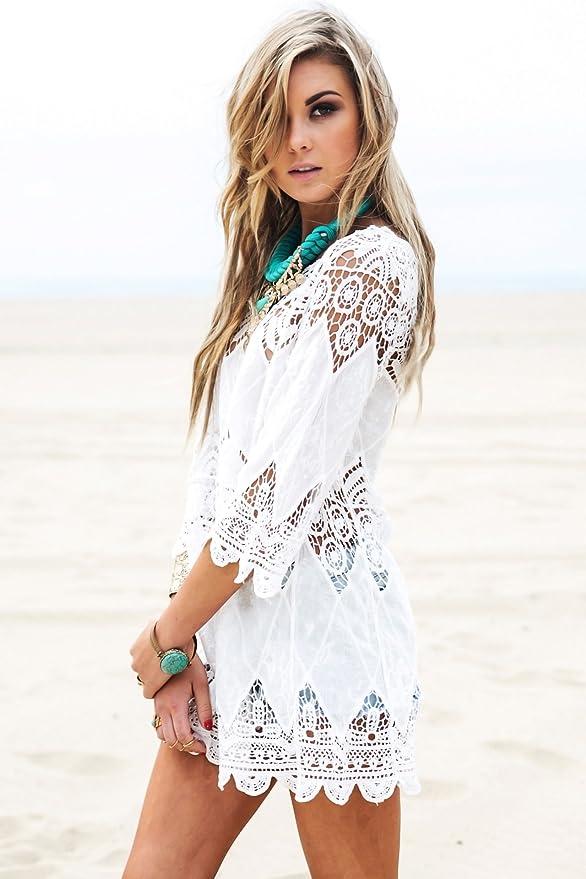White Beach Dress Cover Up