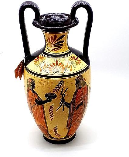 Amphora Via Veneto Gold and Dame Ceramic Vase mantelpiece Furniture Home Kitchen Room