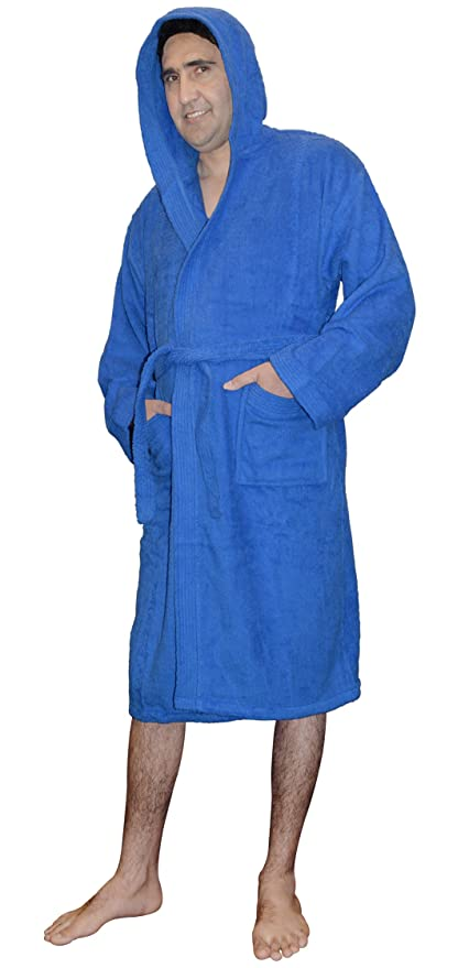 f5ac7f3b27 SKYLINEWEARS Men s 100% Terry Cotton Toweling Hooded Bathrobe Dressing Gown  Robe at Amazon Men s Clothing store